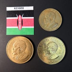 Набор монет Кения 1966г., 1969г.