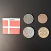 Набор монет Дания 1969г., 1971г., 1980г., 1998г.
