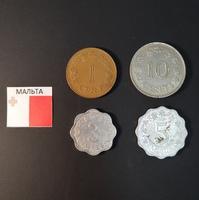 Набор монет Мальта 1972г., 1977г.