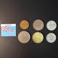Набор монет Фиджи 1963г., 1967г., 1969г.