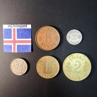 Набор монет Исландия 1942г., 1946г.