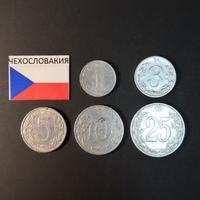 Набор монет Чехословакия 1953г., 1954г.