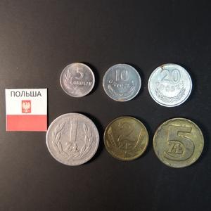 Набор монет Польша 1957г., 1959г., 1965г., 1966г., 1977г.