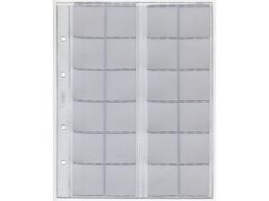 Лист вертикальный для монет, формат Optima (24 ячейки)