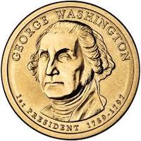 Монета США $1 Президенты (01) Джордж Вашингтон.