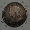 Монета Великобритания 1 крона 1893г. серебро (АG)