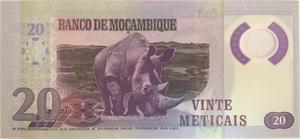 Бона Мозамбик 20 метикал 2017 год