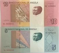 Набор бон Ангола 5 и 10 кванза 2012 пресс