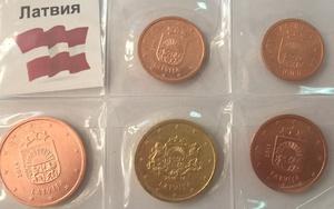 Набор монет Латвия 5 шт
