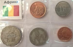 Набор монет Африка 5 шт