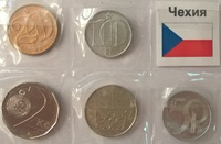 Набор монет Чехия 5 шт