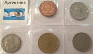 Набор монет Аргентина 5 шт