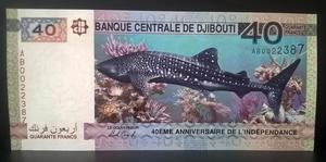 Бона Джибути 40 франков 2017 пресс, UNC