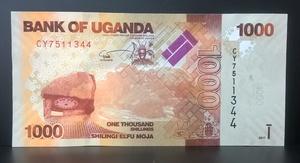 Бона Уганда 1000 шиллингов 2017 пресс,UNC