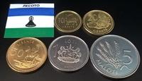 Набор монет Лесото 1998 - 2016 5 шт UNC