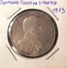 Монета Германия Пруссия 3 марки 1913 г. Вильгельм II Серебро (AG)