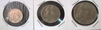 Набор монет Польша 2 5 10 злотых 1934 Пилсудский серебро (AG)