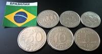 Набор монет Бразилия Животные 6 шт UNС 1992-1994 гг